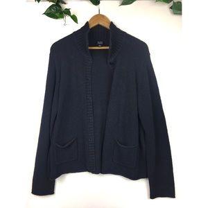 Eileen Fisher size XL blue cardigan button down